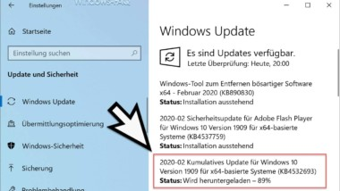 Download Update KB4532693 für Windows 10 Version 1903 und 1909 (18362.657 und 18363.657)
