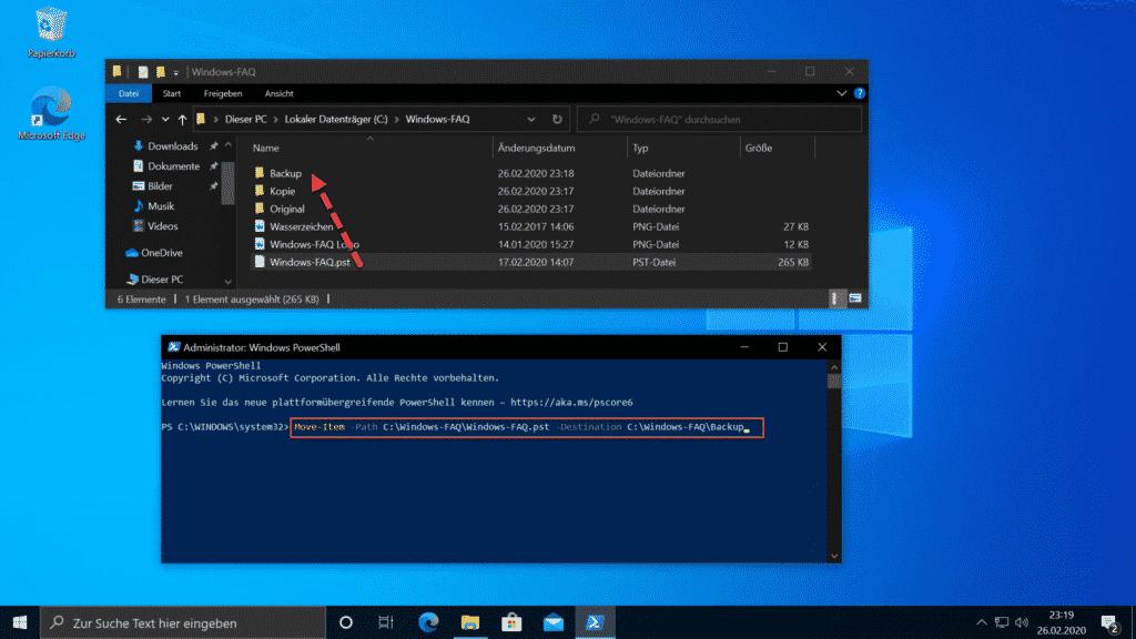 Move-Item Datei verschieben