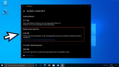 Reservierten Speicher für Windows Updates deaktivieren per Registry-Änderung