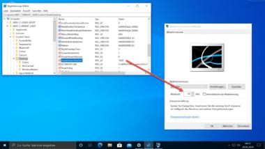 Zeit für die Aktivierung des Windows Bildschirmschoners per Registry Key verändern
