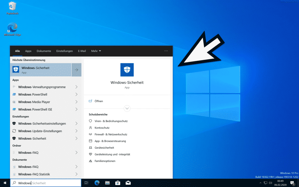 Windows 10 lokale Suche