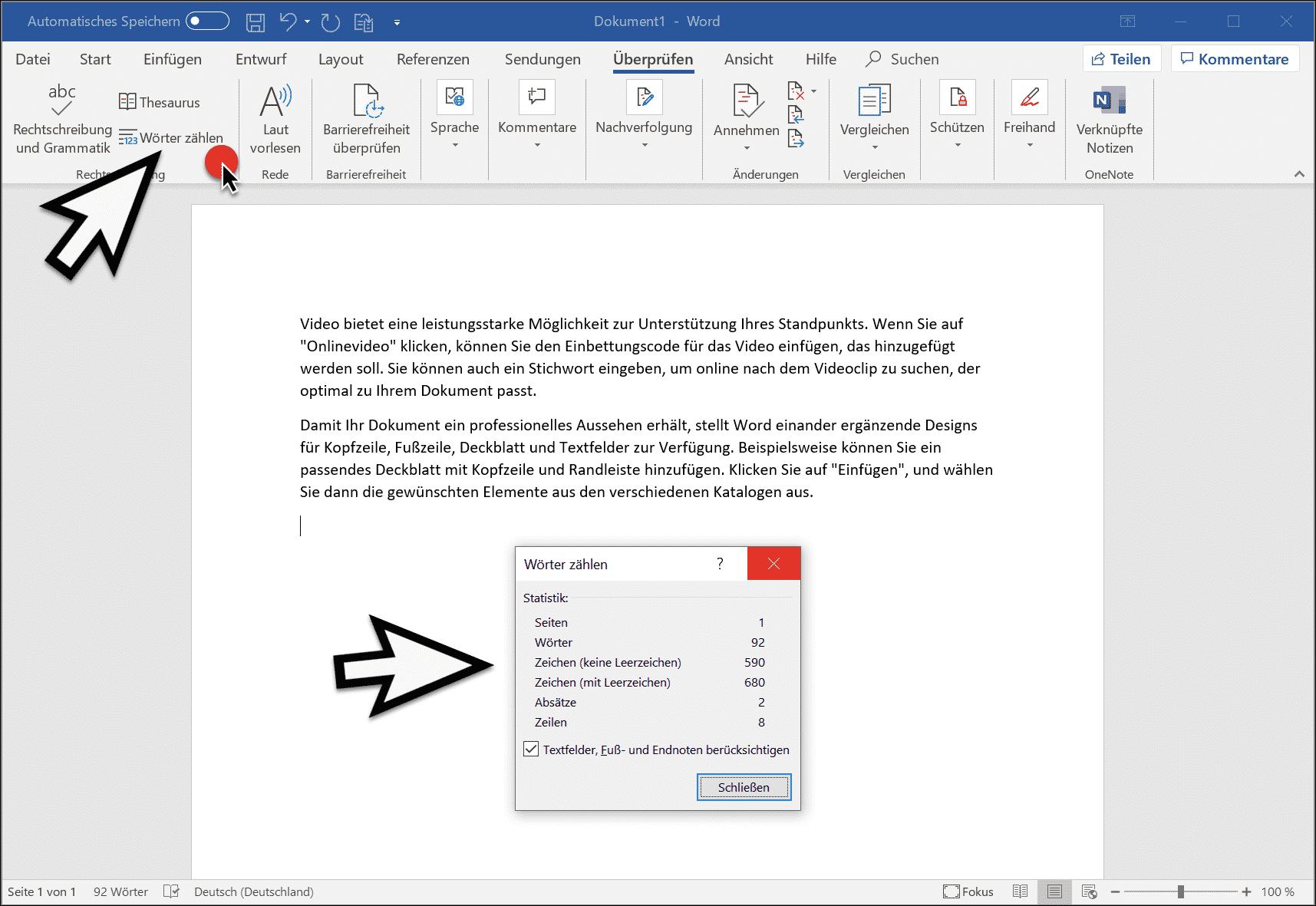 Word Zufallstext