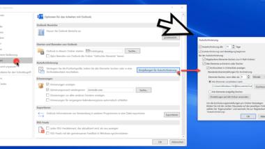 AutoArchivierung im Outlook aktivieren