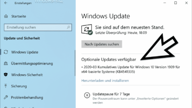 Download KB4541335 Update für Windows 10 1903 und 1909 (OS Build 18362.752 und 18363.752)
