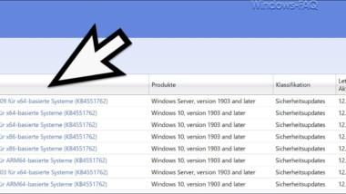 Update KB4551762 für Windows 10 1903 und 1909 erschienen 18362.720 und 18363.720