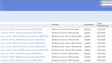KB4554364 Update zum Downloaden für Windows 10 1903 und 1909 18362.753 und 18363.753