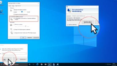 Maus automatisch zur Standard-Schaltfläche in Windows Fenstern springen lassen