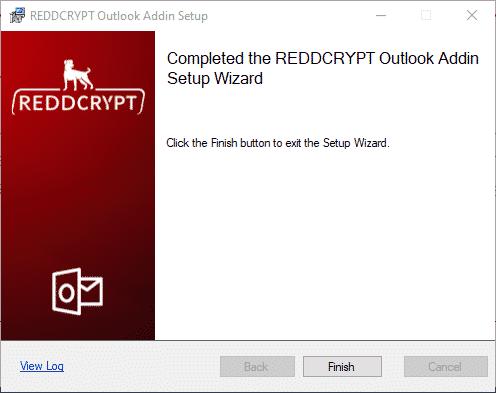 REDDCRYPT Outlook Addin Setup