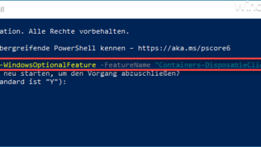 Sandbox per PowerShell Befehl oder mit DISM installieren