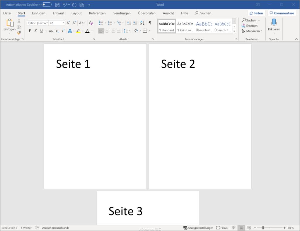 Word Seiten ausdrucken
