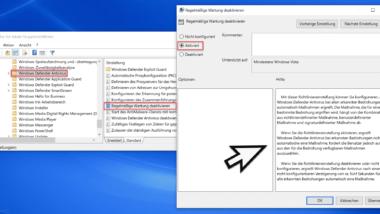 Windows Defender-Antivirus Bedrohungen automatisch oder vom Anwender beheben lassen