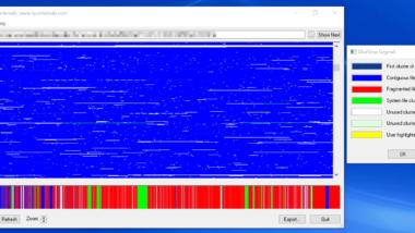 DiskView – Grafische Ansicht des Datenträgers und deren Belegung