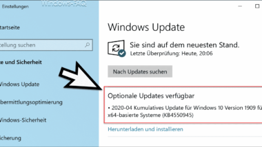 Download Update KB4550945 für Windows 10 Version 1903 und 1909 (18362.815 and 18363.815)