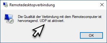 RDP UDP ist aktiviert