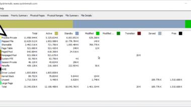 RAM Verteilung und RAM Auslastung von Windows per RAMMap Tool auswerten