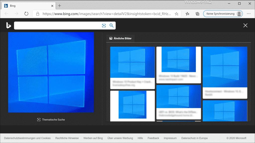 Ähnliche Bilder im Browser dargestellt