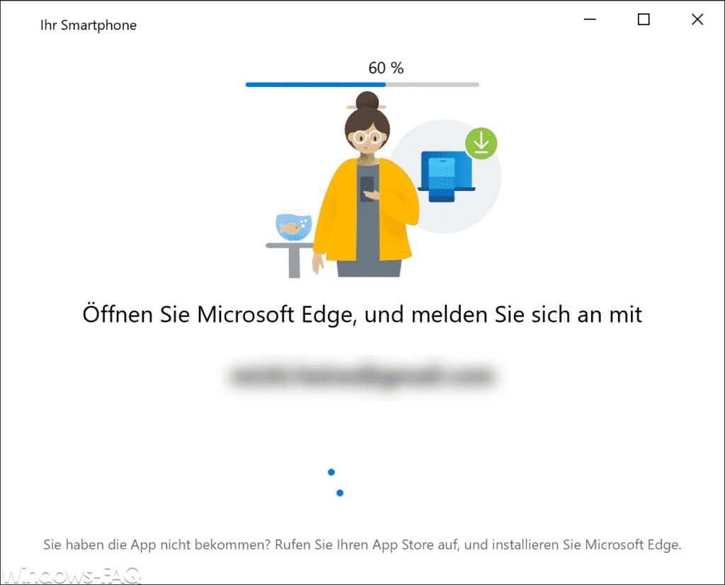 Öffnen Sie Microsoft Edge und melden Sie sich an
