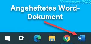 Word, Excel, PowerPoint oder sonstige Datei an die Windows 10 Taskleiste anheften
