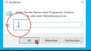 """Windows Ausführen Dialog mit """".."""" ruft automatisch das Windows Profilverzeichnis auf – Windows Trick"""