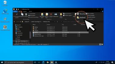 Vorgängerversionen von Dateien im Windows Explorer über den Verlauf wiederherstellen