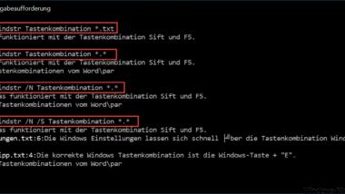 Dateiinhalte suchen unter Windows mit dem FINDSTR Befehl