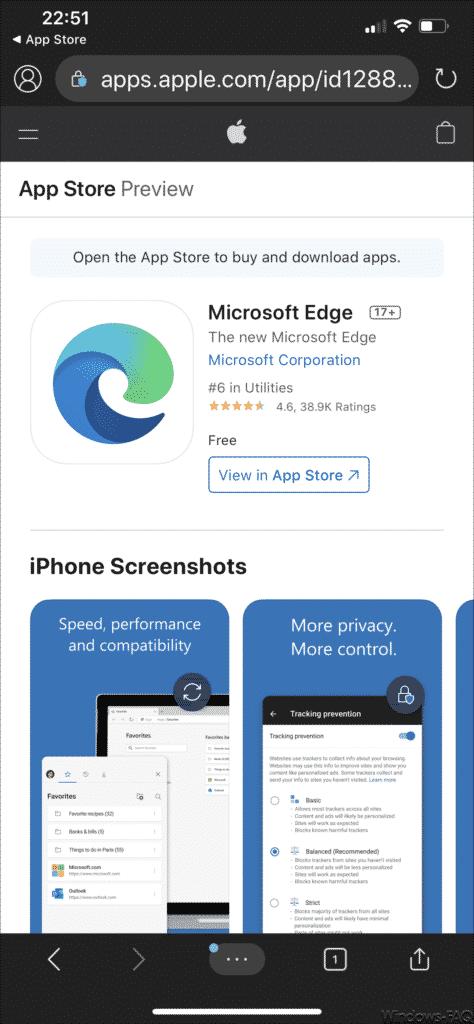 Microsoft Edge installieren