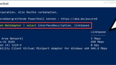 LAN und WLAN Netzwerk Geschwindigkeiten unter Windows abfragen
