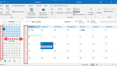 Wochennummern (Kalenderwoche) im Outlook Kalender anzeigen