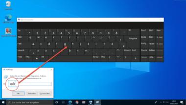 Windows 10 Bildschirmtastatur schnell aufrufen per Kurzbefehl