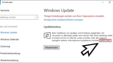 Windows Update Fehlercode 0x80070663