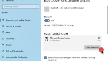 Bluetooth Geräte Treiberfehler unter Windows 10