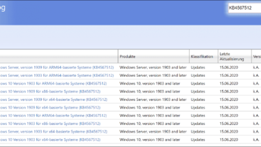 Download Update KB4567512 für Windows 10 Version 1909 und 1903 (OS Builds 18362.904 und 18363.904)