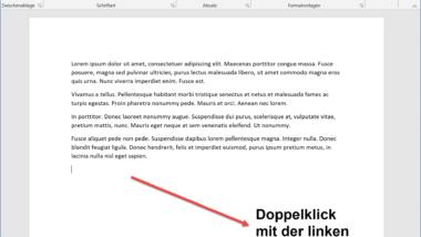 Einen Text im Word Dokument frei platzieren – Word Tipp