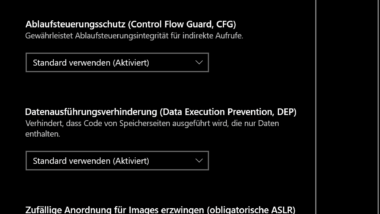 Exploit Schutz unter Windows 10 (Windows-Sicherheit bzw. Windows Defender)