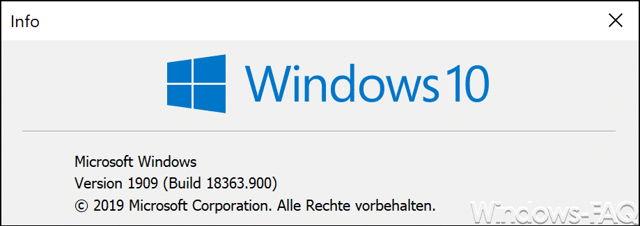 Windows 10 Version 1909 Build 18363.900