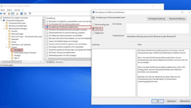 Windows Anmeldung mit Bildcode verhindern bzw. deaktivieren