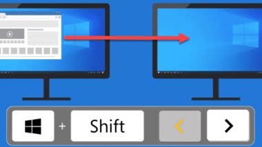 Windows Fenster mit Tastenkombination von einem Monitor auf den anderen verschieben
