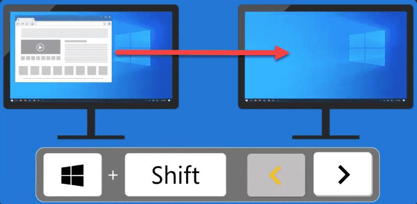 Windows Taste Shift und Cursortasten
