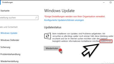 0x80070103 Fehlercode beim Windows Update