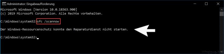 Der Windows-Ressourcenschutz Konnte Den Reparaturdienst Nicht Starten