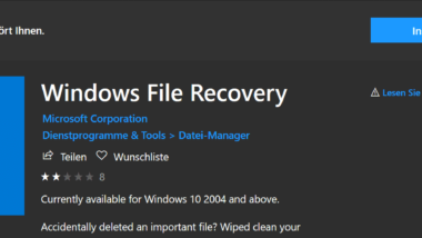 Microsoft Windows File Recovery Tool – Download WINFR