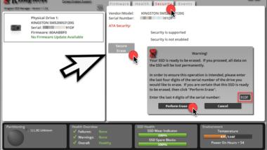 SSD sicher löschen mit Secure Erase