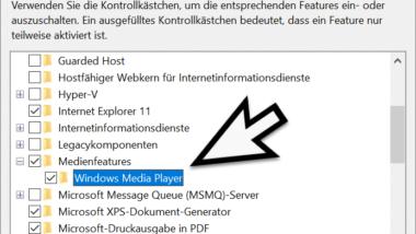 Windows Media Player deinstallieren