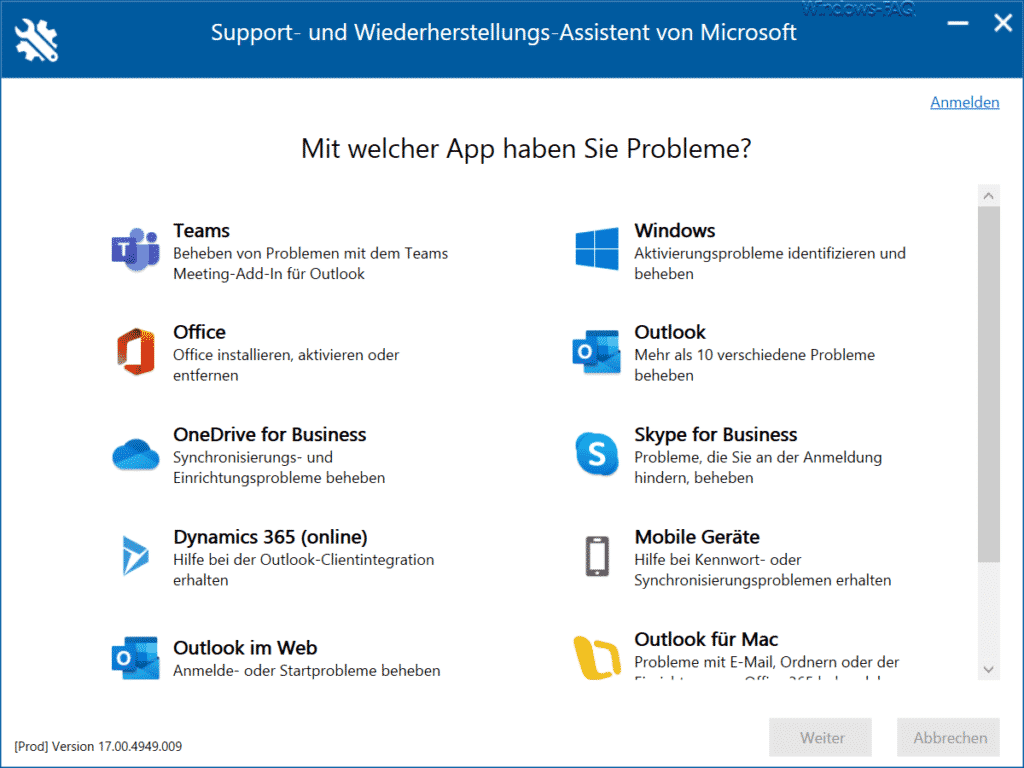 Microsoft Support and Recovery Assistant SaRA Apps