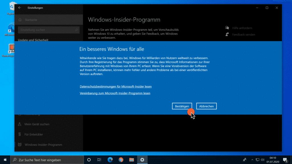 Windows-Insider-Programm - Ein besseres Windows für alle