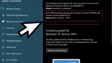 KB4565351 für Windows 10 Version 1903 und 1909 erschienen (18362.1016 & 18363.1016)