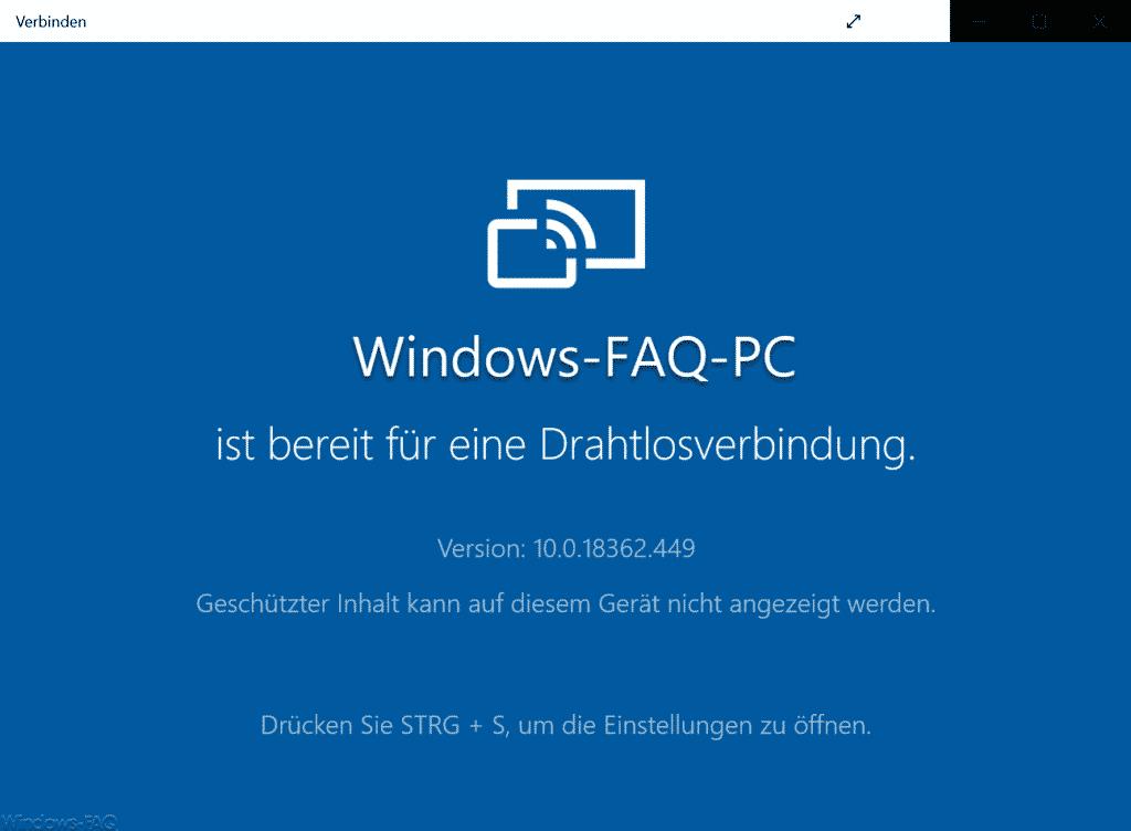 PC ist bereits für eine Drahtlosverbindung.