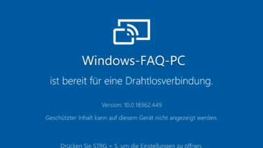Monitor Bild von einem PC auf einen anderen PC per WiFi übertragen