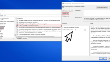 Intervall festlegen, wie oft Windows nach Updates suchen soll