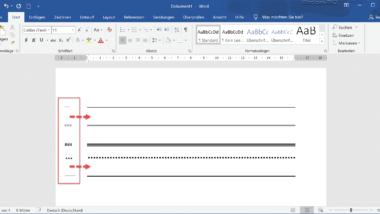 Ganze Zeilen mit Linien im Word automatisch erzeugen lassen